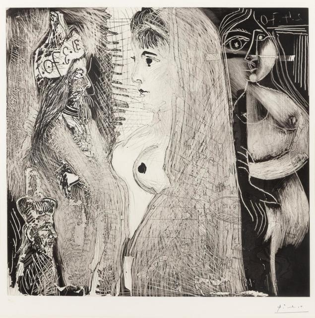 Pablo Picasso, '5 Mai 1971', 1971, Print, Aquatint, drypoint and scraping, Hindman