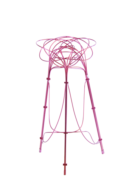 Chin-Hua Lin, 'Burr Puzzle High Stool in Pink Aluminium Finish', 2013, Gallery ALL