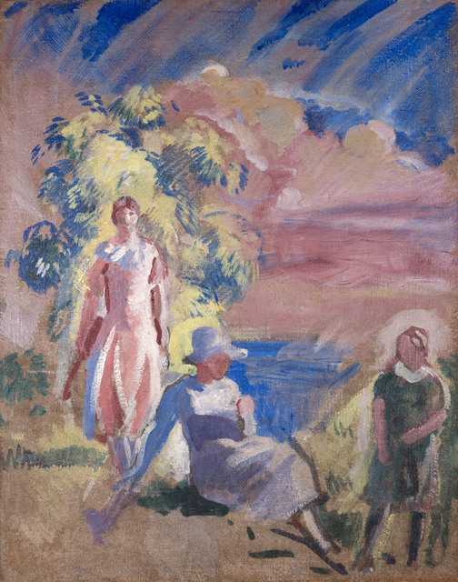Charles Hopkinson, 'Study of Three Daughters for 'Five in the Afternoon'', ca. 1926, Vose Galleries