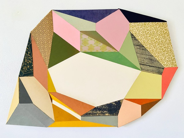 Conny Goelz Schmitt, 'Telltale', 2021, Drawing, Collage or other Work on Paper, Vintage book paper collage, Bernay Fine Art