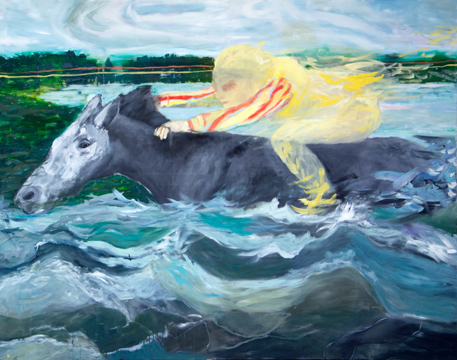 , 'Reve avec cheval dans l'eau / Oel auf Jute,' , LICHT FELD Gallery