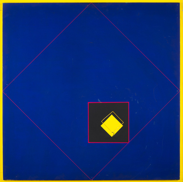 Rafael Martinez, 'Cuadrado amarillo', 1975, Mixed Media, Acrylic on board and steel insert, Martini Studio d'Arte