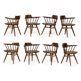 Set of eight Captain's chairs, New Hope, PA