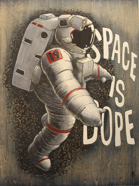 , 'Space is Dope,' 2019, Art Attack SF