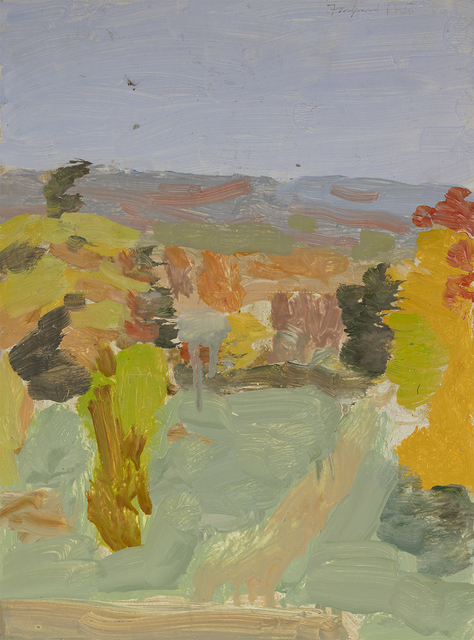 Fairfield Porter, 'Untitled [View of Pelham Hills from Artist's Studio in Fayerweather Hall, Amherst College]', 1969, Questroyal Fine Art