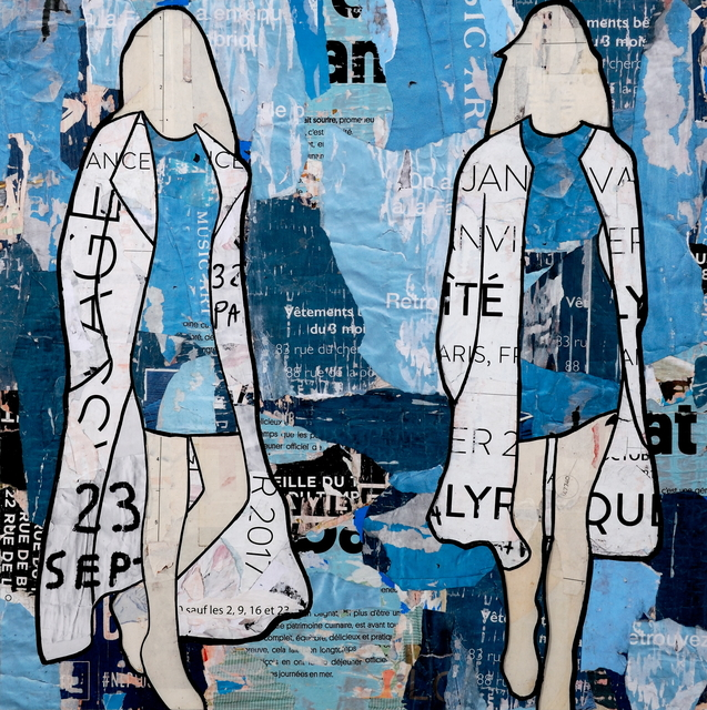 Jane Maxwell, 'Blue Billboard Girls',  , JoAnne Artman Gallery