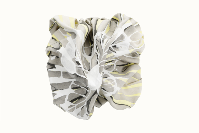 , 'Yellow and Grey Peak With Soft Folds,' 2015, Matthew Rachman Gallery