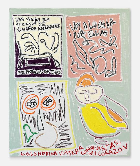 Nadia Hernández, 'Las matas en mi casa, golondrina viajera y cítricos (The plants in my house, traveling swallow and citrus)', 2019, Blackartprojects