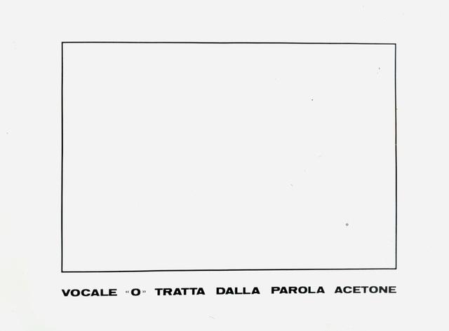 """, 'VOCALE """"O"""",' 1973, Studio Guastalla"""