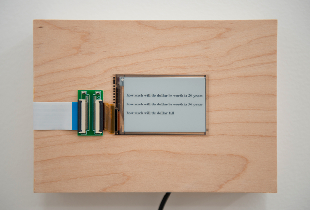 , 'how much will the dollar,' 2015-2016, Postmasters Gallery