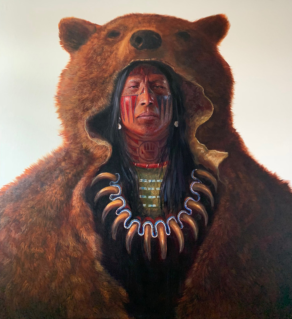 Greg Overton, 'Blood Hand Bear', 2020, Painting, Oil on canvas, Trailside Galleries
