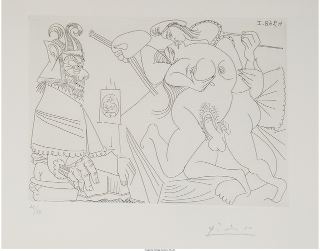 Pablo Picasso, 'Raphael and the Fornarina XV (from the 347 Series)', 1968, Heritage Auctions