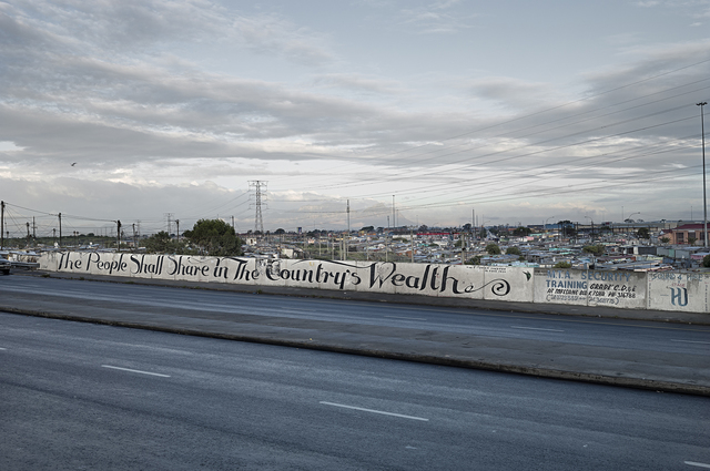 , 'The People Shall Share in the Coutries Wealth, Khayelitsha, Cape Flats (mural by faith47),' 2015, Sulger-Buel Lovell