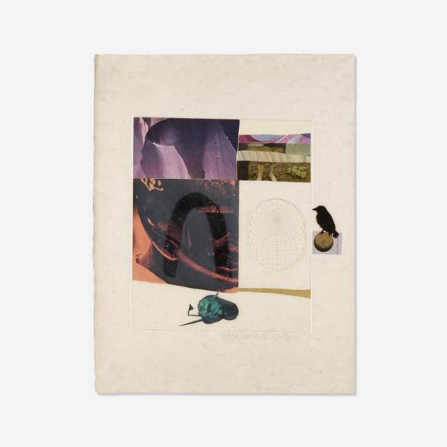 Robert Rauschenberg, 'Horsefeathers Thirteen - IX', Print, Lithograph, screenprint, pochoir, collage, and embossing on paper, Rago/Wright