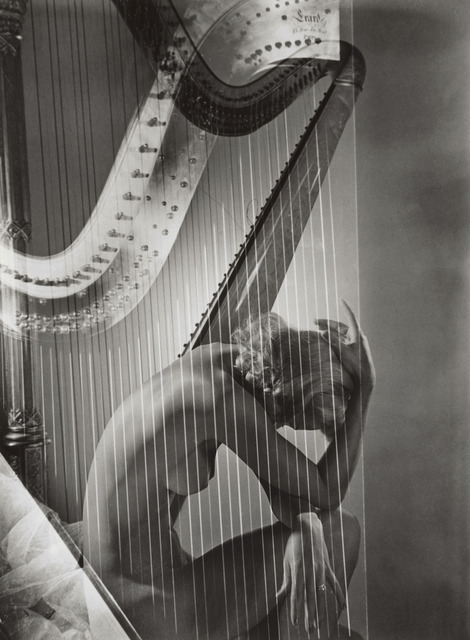 Horst P. Horst, 'Lisa with Harp', 1939, Vogue Archives