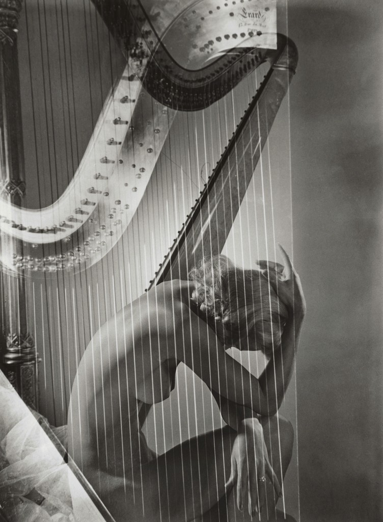 Horst P. Horst, 'Lisa with Harp,' 1939, Vogue Archives