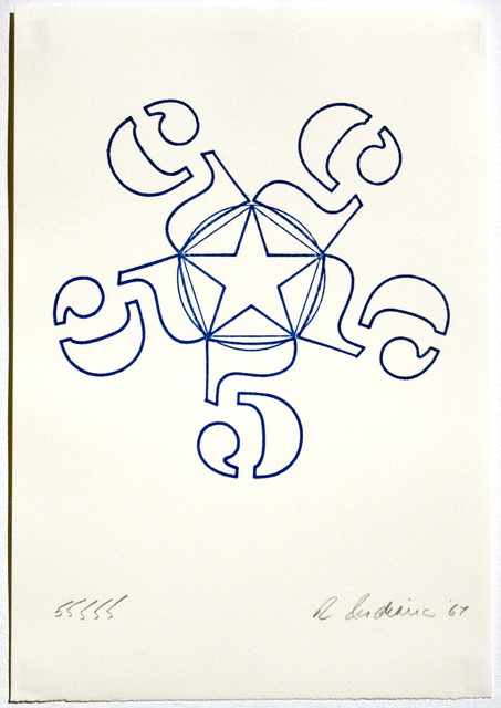 Robert Indiana, '55555, Stamped Indelibly ', 1967, Woodward Gallery