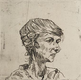 , 'Erna Glaser,' ca. 1921, Institut Mathildenhöhe Darmstadt