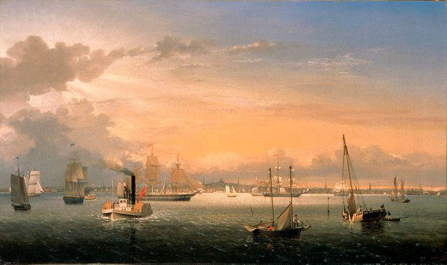 , 'Boston Harbor,' 1854, White House Historical Association