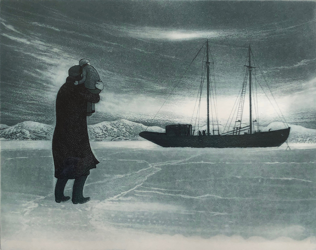 , ' Winter Visitors Aboard the Flora S. Nickerson,' 1976, Winchester Galleries