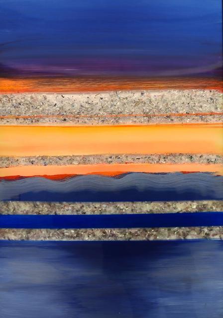 Arica Hilton, 'Serenity Sunset', 2020, Mixed Media, Acrylic on Acrylic with Recycled Plastic, Hilton Asmus