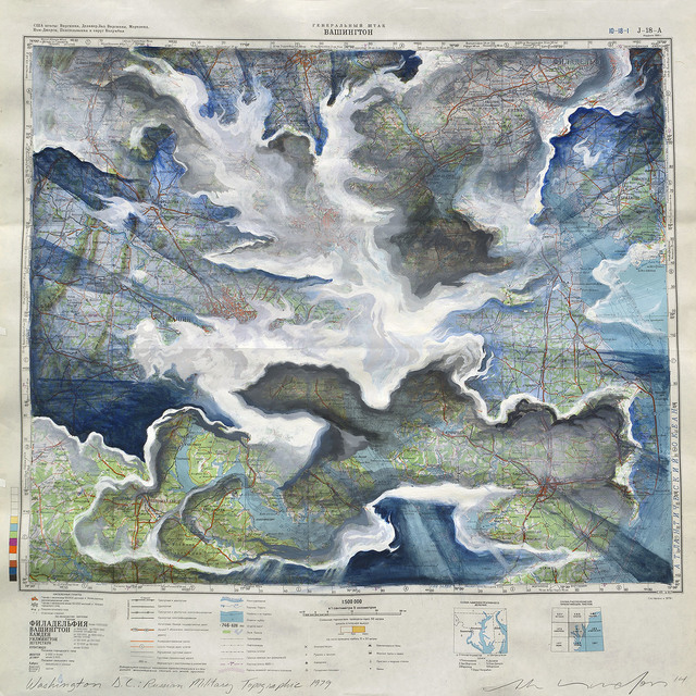 , 'Washington DC: Russian Military Topographic 1979,' 2014, Art Bastion Gallery