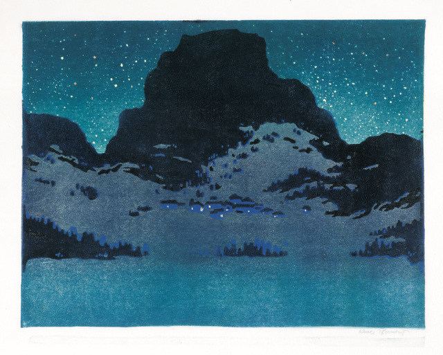 , 'Winter Night in the Mountains ,' , Galerie Bei Der Albertina Zetter