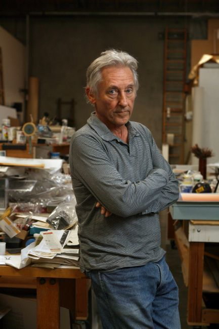 Louisiana on Paper. Ed Ruscha. VERY Works from the UBS Art Collection    Ed Ruscha poses for photographs in his studio in Venice California, November 23, 2009.  Photo: Ann Johansson/Corbis/Getty Images