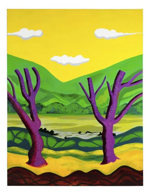 , 'Purple Trees with Yellow Sky,' , Ode to Art