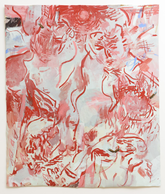 , 'Figures in Purgatory with Cigarette Butts,' 2016, Samuel Freeman