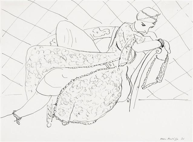 , 'Jeune Femme, Robe Juive, Fauteuil Turc,' 1931, Bernard Jacobson Gallery