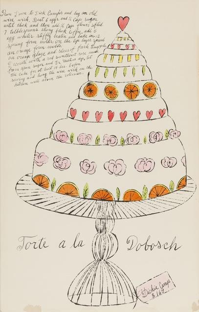Andy Warhol, 'Torte a La Dobosch (from Wild Raspberries) (see Feldman & Schellmann IV.130.A)', 1959, Forum Auctions