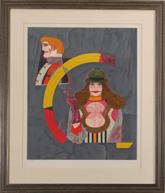 Richard Lindner, 'Woman with hat', ca. 1966, Les Arts