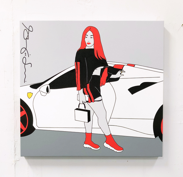 , 'ferrari girl 2,' 2017, g.gallery