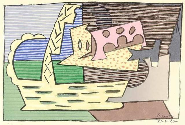 """Pablo Picasso, 'Lithograph """"The Basket"""" after Pablo Picasso', 1946, Galerie Philia"""