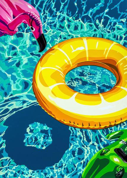 Joel Clark, 'Lilos on Swimming Pool 2', ca. 2017, Harmony Art Gallery