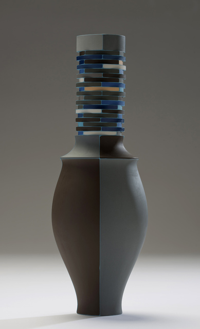 , 'Brown, Beige and Blue Vase with Cyan Seams,' 2016, Wexler Gallery