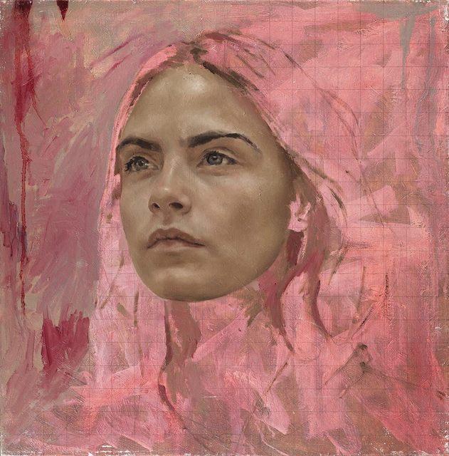 Jonathan Yeo, 'Cara Study I ', 2016, Print, Archival pigment print with varnish, Manifold Editions