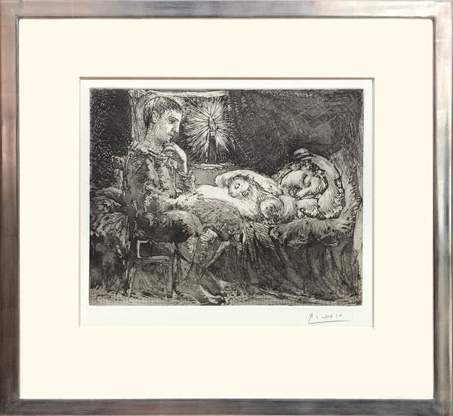 , 'Garcon et dormeuse à la chandelle,' 1934, Peter Harrington Gallery
