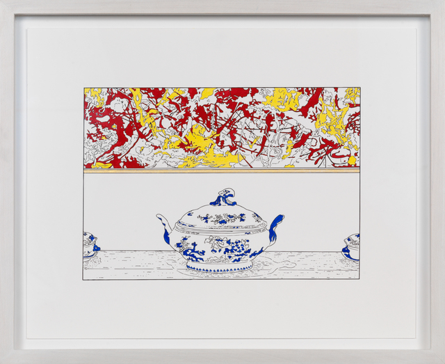 , 'Pollock and Tureen (traced and painted), Seventh,' 2015, Blondeau & Cie