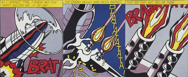 Roy Lichtenstein, 'As I Opened Fire (triptych)', 1964, Julien's Auctions