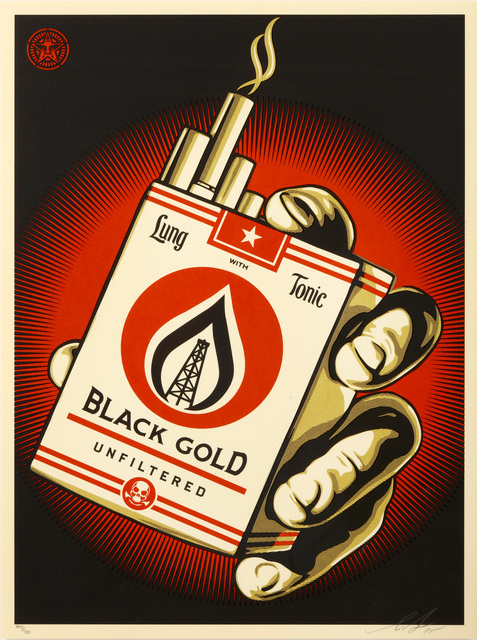Shepard Fairey (OBEY), 'Black Gold', 2015, Chiswick Auctions