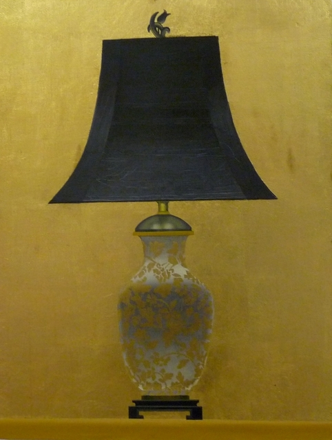 Patrick Kirwin, 'Lamp II (Gold and White Floral Base)', Painting, Acrylic and Gold Leaf on Panel, Zenith Gallery