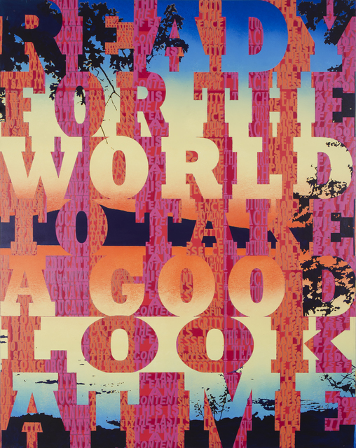 , 'Ready for the World to Take a Good Look at Me,' 2018, LaMontagne Gallery