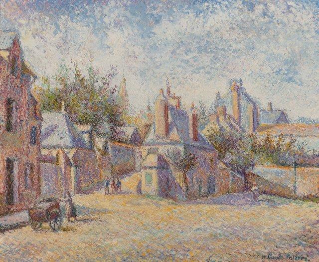Hugues Claude Pissarro, 'Au Coq Hardi, chez Chapelle et Mariette à Mortagne', Painting, Oil on canvas, Heritage Auctions