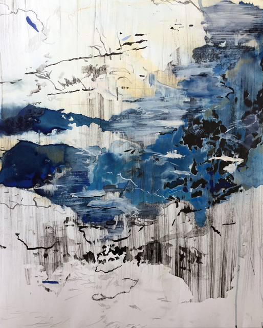 """, 'Distance of Blue 2 (62°07'19.26"""" N 143°50'47.22""""W),' 2018, ArtHelix Gallery"""
