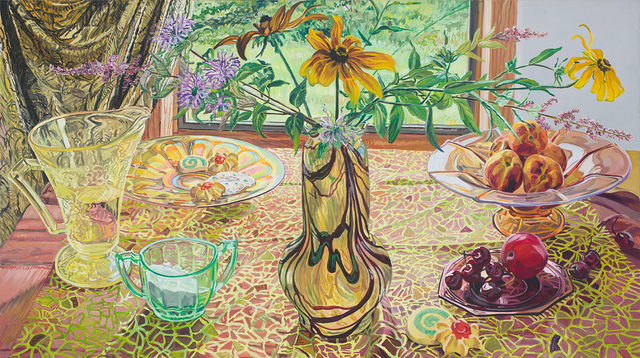 Janet Fish, 'Vase Before a Window ', 1996, Painting, Oil on linen, DC Moore Gallery