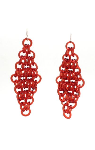 David Licata, 'Red Earrings', 2017, Facèré Jewelry Art Gallery