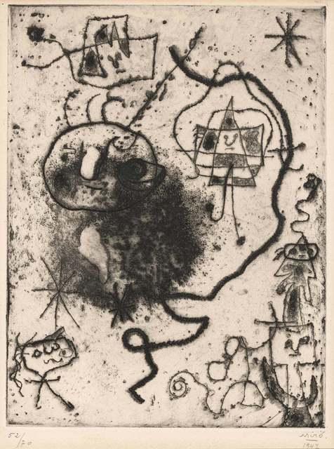 Joan Miró, 'PETITE FILLE SAUTANT À LA CORDE, FEMMES, OISEAU (DUPIN 52)', 1947, Doyle