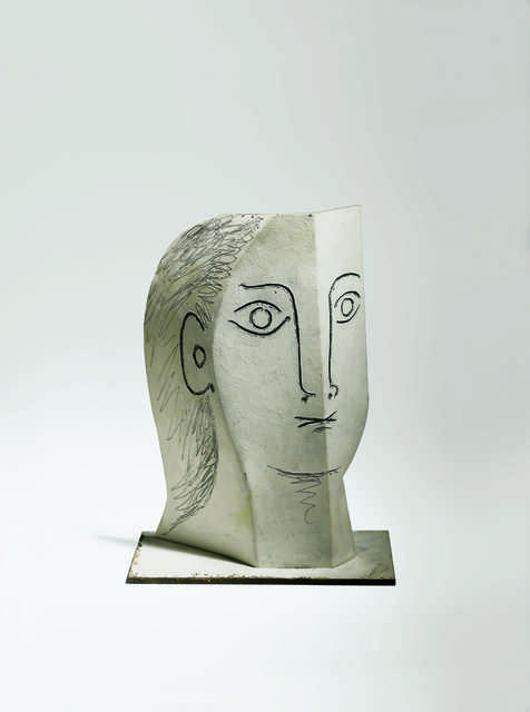 Pablo Picasso, 'Tête de femme (Head of a Woman)', 1961, Sculpture, Painted sheet metal, cut out, folded, and incised, Fondation Beyeler
